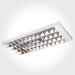 Luminária comercial de sobrepor para 4 lâmpadas de 32w 36w e 40w 1